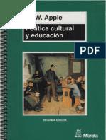 Apple, M W - Politica Cultural y Educacion