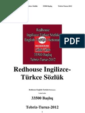 0551 Redhouse Ingilizce Turkce Sozluk Redhouse English Turkish Dictionary  (Latin Latin) (33500 Bashliq)(Tebriz Turuz 2012)
