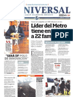 Portada Periodicos Nacionales, Lunes 29 Julio 2013