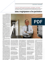 Entrevista a Ángel Giménez. Director Hospital de Dénia.