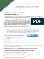Tips-komputer.com-Tips Hebat Cara Membuat Soal Online Hasil Dikirim via Email