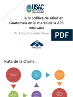 Análisis de la política de salud en Guatemala.