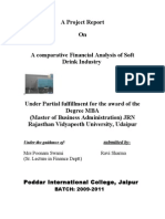 A comparative Financial Analysis of Soft Drink Industry