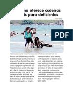 Mobilidade Deficientes Praia