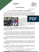 23/07/13 Germán Tenorio Vasconcelos aplican Encuesta Salud, Bienestar y Envejecimiento