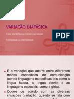 A Variação linguística diafásica e diacrônica