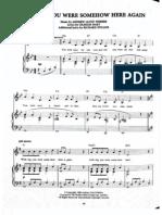 Phantom of the Opera Wishing You Were Somehow Here Again Sheet Music for Piano