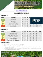 Campeonato Municipal 2013 Sem Arti 29-07-13