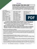 Normas Caldidad FDA