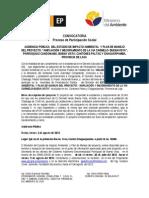 Convocatoria PPSocial Proyecto via El Carmelo-Buena Vista