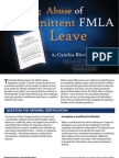 Curbing Abuse of Intermittent FMLA Leave