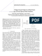 Evaluation of Open Circuit Fault of a Wind Farm Consisting of Fixed Speed Wind Turbines