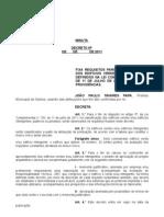 Decreto Edificações Verdes e  Inteligentes