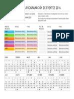 Planificador de la programación de eventos 2016