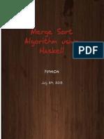 Merge Sort Algorithm using Haskell