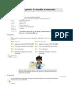 Evaluación de inducción curso Herramientas NTIC aplicadas a la formación