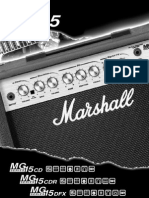 Marshall MG15CD MG15CDR MG15DFX users Manual