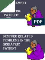 Prosthodontic Management of Geriatric Patient
