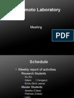 Lab Meeting List
