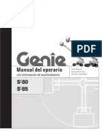 boom lift genie s85 manual español