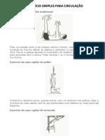 EXERCÍCIO SIMPLES PARA CIRCULAÇÃO