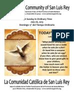 Bulletin for 7-28-2013