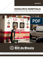 "Bill de Blasio's report, ""Saving Brooklyn Hospitals"""