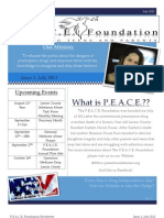 P.E.A.C.E. Newsletter Issue 1, July 2013