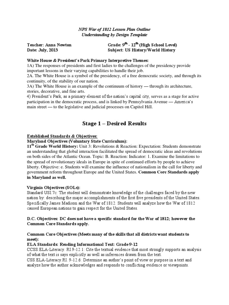Worksheets War Of 1812 Worksheet war of 1812 high school lesson plan argument educational assessment