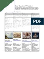 Sample Photo Story Worksheet for Elementary Lesson