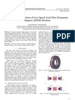 Design and Simulation of Low Speed Axial Flux Permanent