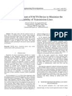 Optimal Placement of FACTS Device to Maximize the Loadability of Transmission Lines