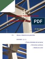 Detalle de Conexiones Atornilladas - Soldadas