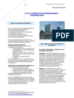 Guideline to a Career in an International Organisation