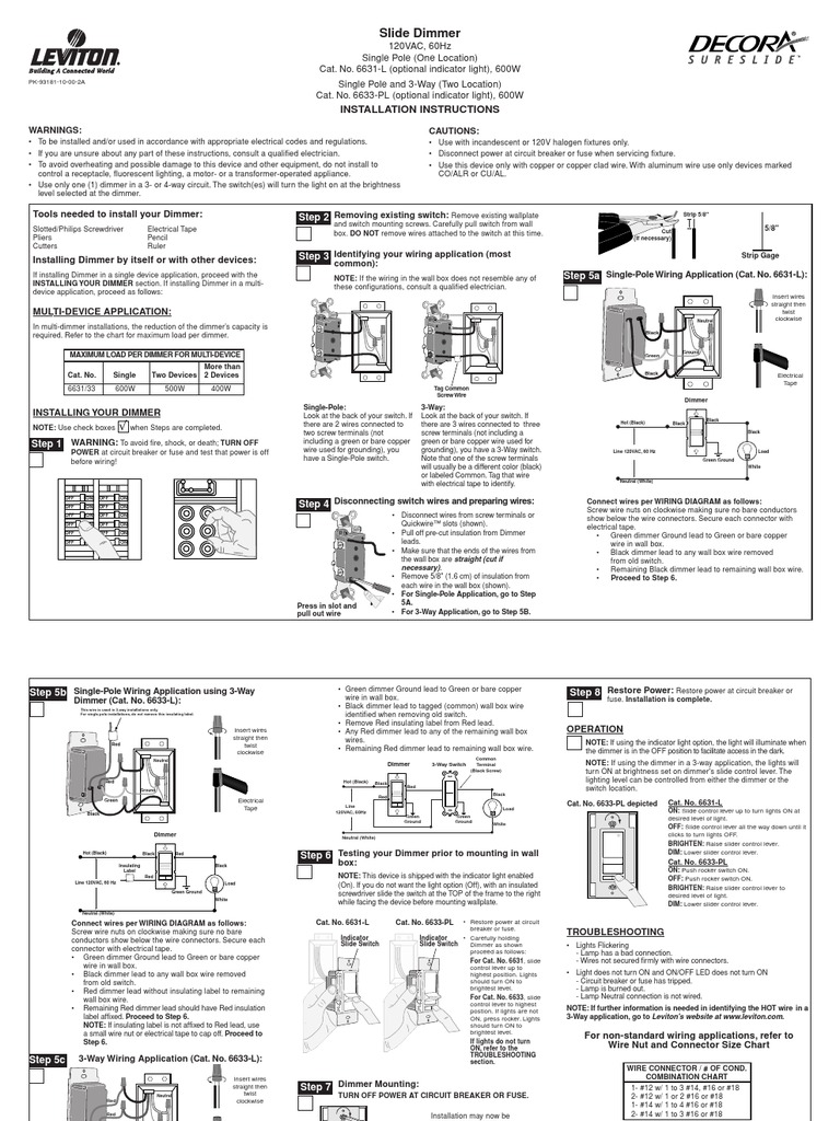 Copper Wire 3 Way Switch Wiring Diagram Library With Dimmer Leviton Slide Electrical Connector