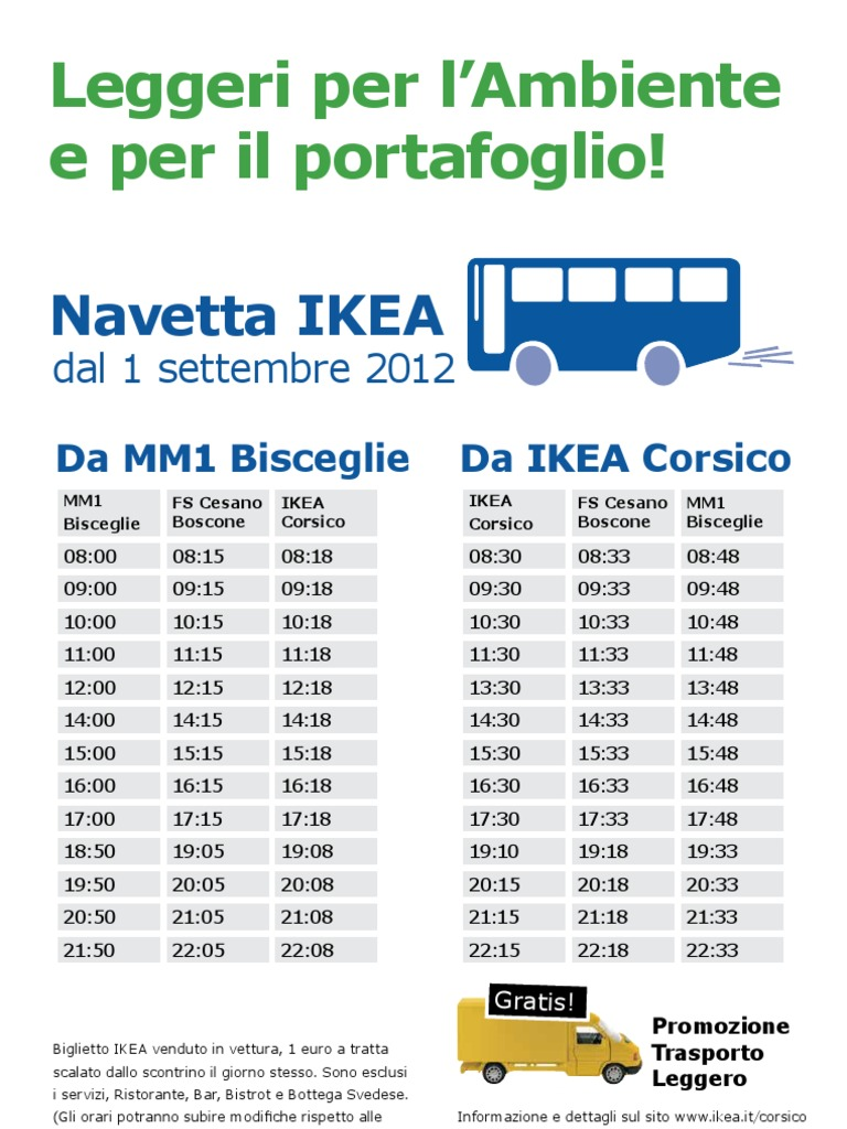 Orari Navetta Ikea Milano