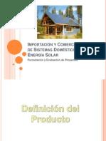 Importación y Comercialización de Sistemas Domésticos de Energía