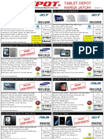 TABLET Pricelist