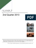 GMO Quarterly Update 2 q 13