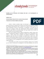 Estudios de La Presencia Del Trabajo Del Actor a La Investigacion No Interpretativa