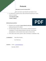 Protocolo Cursos de Invierno 2013