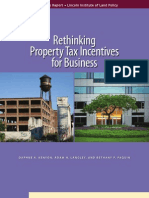 Rethinking Property Tax Incentives for Business
