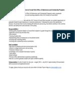 Graduate Assistant Job Description