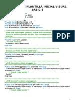 Plantilla Inicial Visual Basic 6
