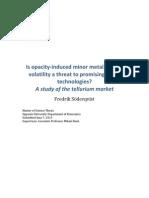A Study of Tellurium Market Finlanda Iun.2013
