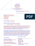 Administrative letter as EXECUTOR 14
