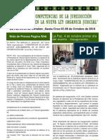 Revista Competencia de la Jurisdicción Agroambiental en la Ley del Órgano Judicial