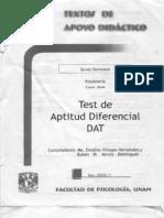 Test de Aptitud Diferencial DAT (PSCOLOGIA UNAM)