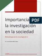 Importancia de la investigación en la sociedad