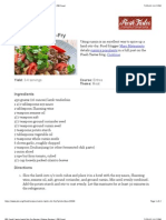 Cumin Lamb Stir-Fry Recipe
